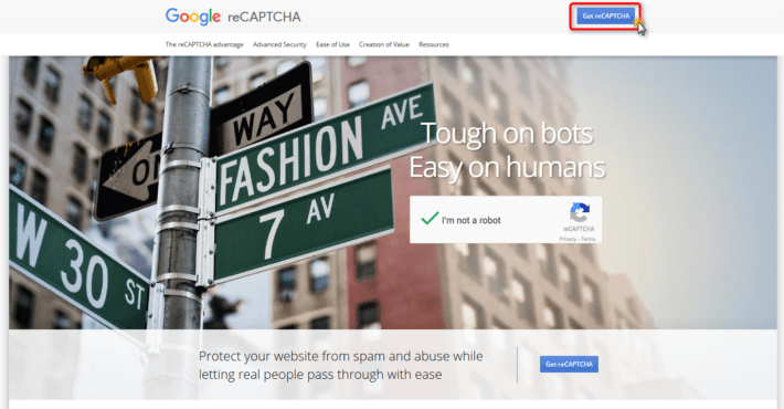 reCAPTCHAキャプチャ画面